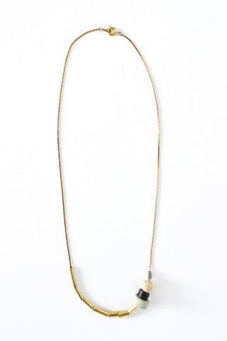 Short Sea Tone Necklace - Young & Able  - 1