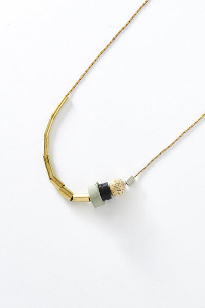 Short Sea Tone Necklace - Young & Able  - 2