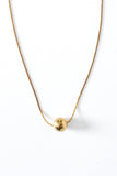 Short Brass Ball Necklace - Young & Able  - 1