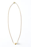 Short Brass Ball Necklace - Young & Able  - 2