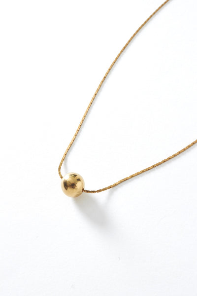Short Brass Ball Necklace - Young & Able  - 3