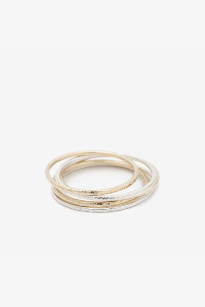 Jack + G Hammered Ring - more options - Young & Able  - 3