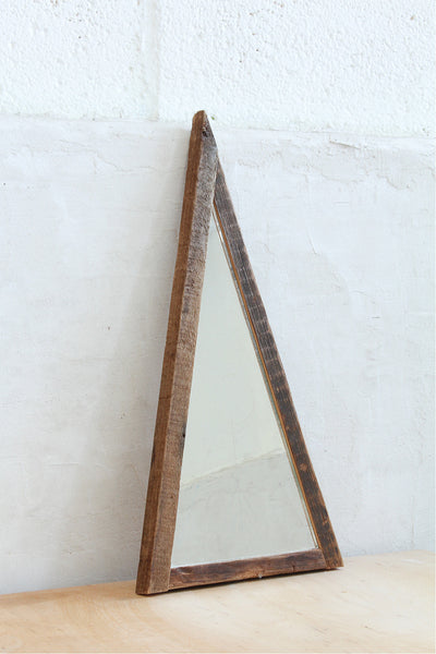 one of a kind etched pyramid mirror - Young & Able  - 1