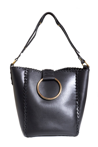 Leather Bucker Tote with handle