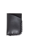 Black leather wrap wallet - Young & Able