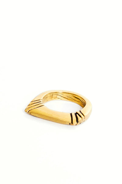 Brass Twin Dot Ring - Young & Able  - 1