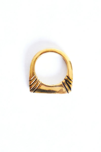 Brass Twin Dot Ring - Young & Able  - 2