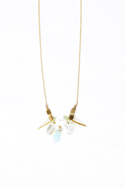 Gold Spike Necklace - Young & Able  - 1