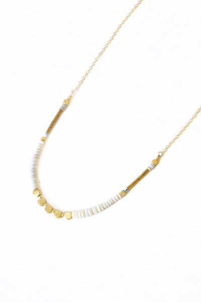 Tiny Opal Necklace - Young & Able  - 3