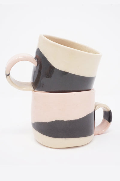 sunset series cup with handle