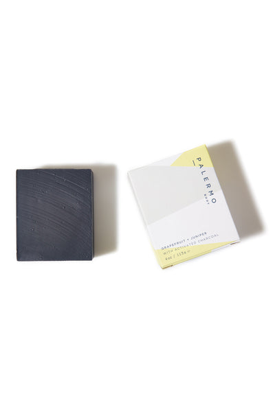 Grapefruit & Juniper with Activated Charcoal Soap - Young & Able  - 1