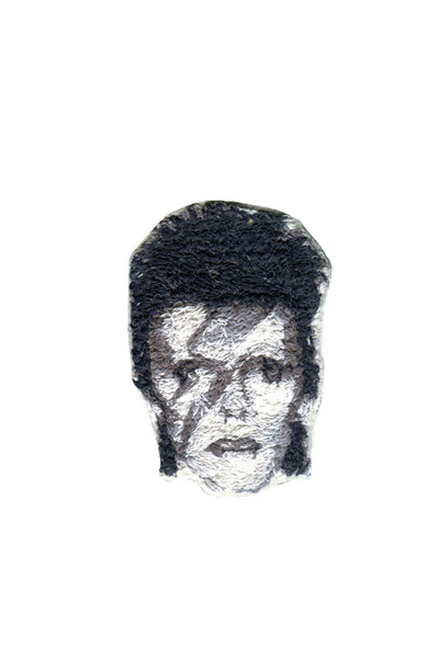 David Bowie Embroidered Portrait Pin - Young & Able