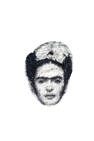 Frida Kahlo Embroidered Portrait Pin - Young & Able