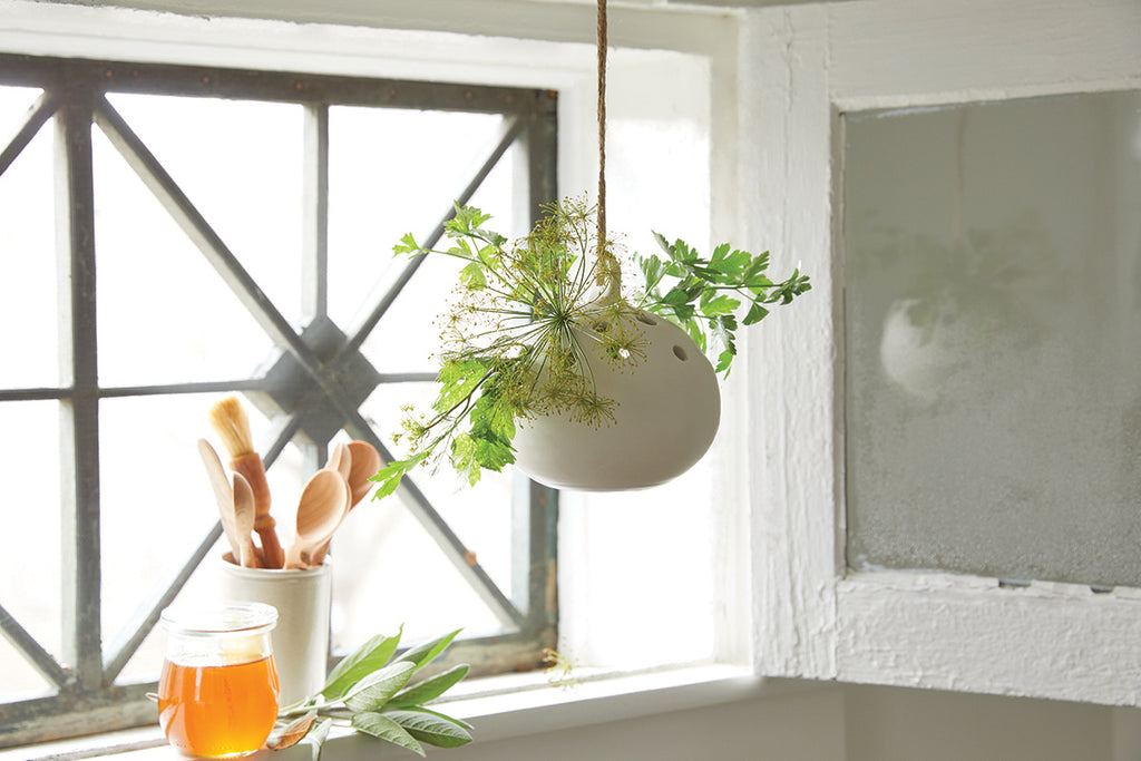 ceramic hanging flower frog vase ... & ceramic hanging flower frog vase | Young \u0026 Able