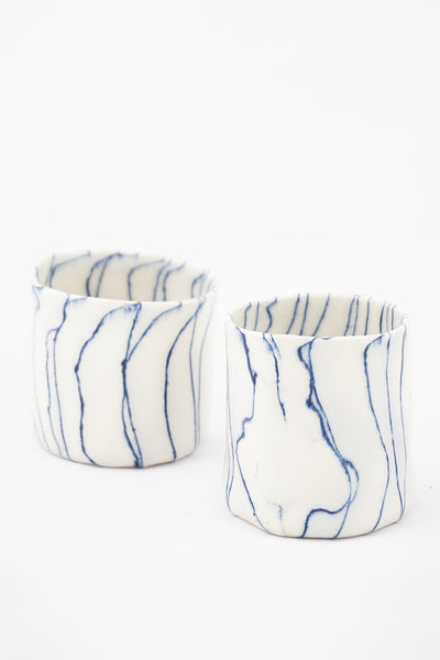 wavy blue stripe mug - Young & Able  - 1