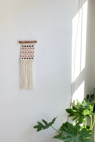 Through The Grid Handwoven Tapestry