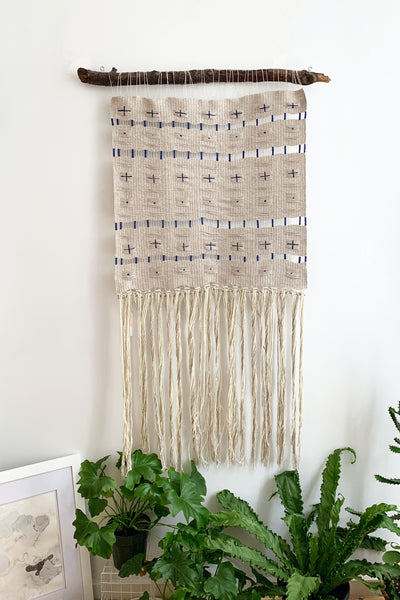 Calming Indigo, Large Handwoven Tapestry
