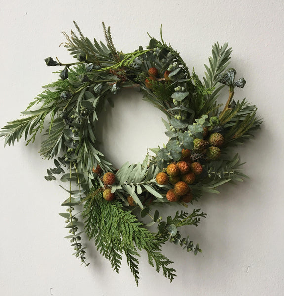 12/15 Holiday Wreath Workshop with The Floral Society