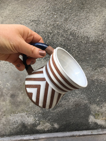 In Striped Mug