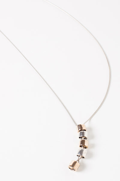 Stacked Cylinder Necklace