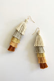Tassel Earrings 5 Tassels - more colors