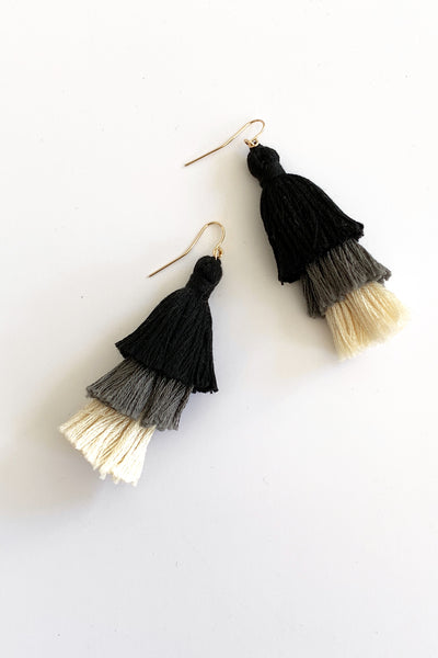 Tassel Earrings 3 Tassels