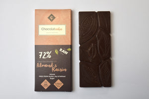 Raw Chocolate with Almond & Raisin