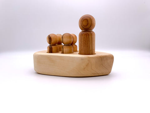 Wooden Boat & Pegs