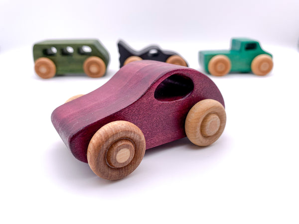 Wooden 4 Vehicle Set