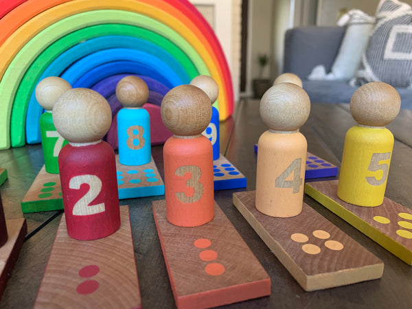 Number Matching Peg Doll & Slat Set (0-10)
