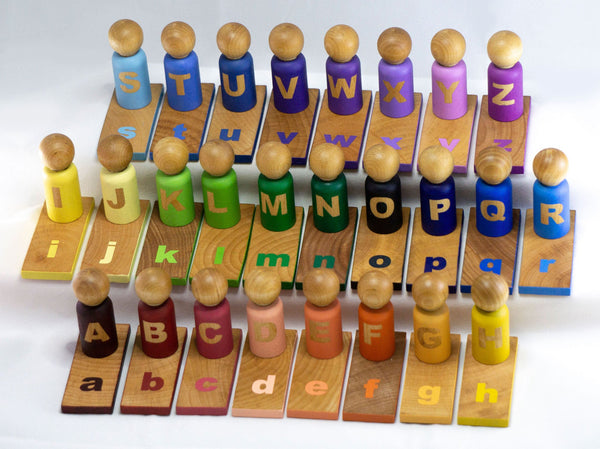 Alphabet Peg Doll Set