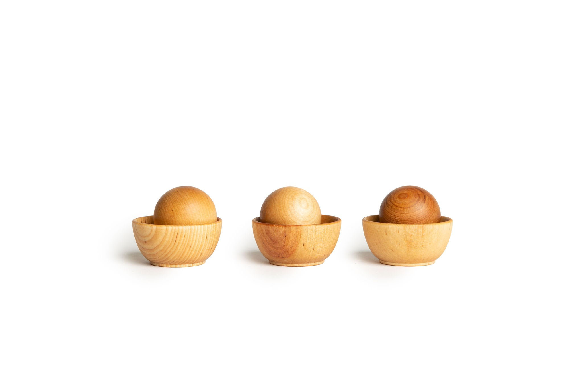 Wooden Ball & Bowl Set