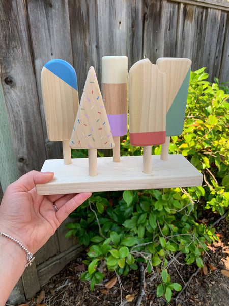 Wooden Popsicle Set - Painted