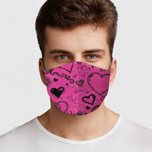 Load image into Gallery viewer, Pink Love Hearts Face Cover