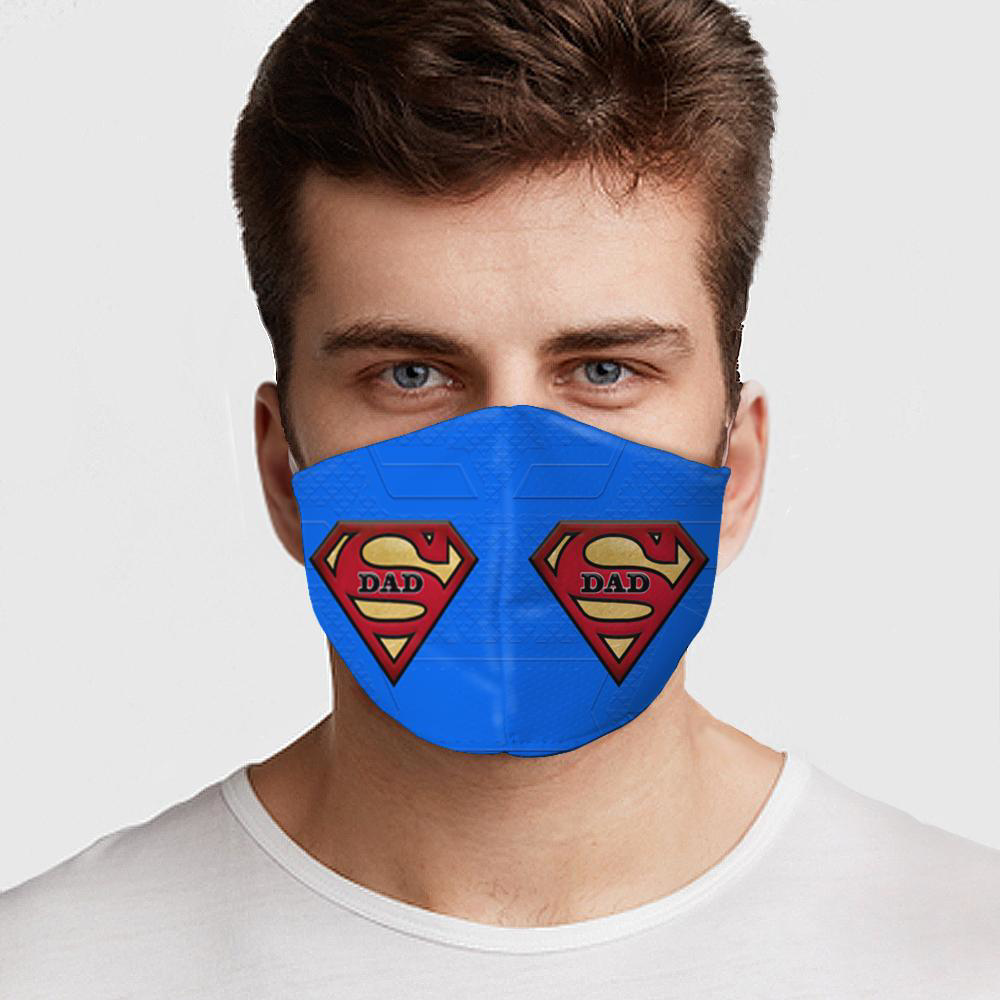 Super Dad Superman Face Cover