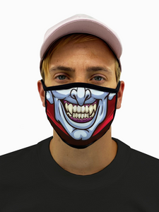Vampire Face Mask With Filter Pocket