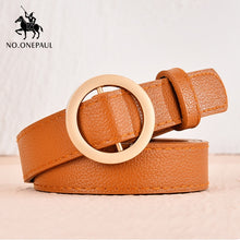 Load image into Gallery viewer, No. Onepaul Women's Casual Circle-Buckle Belt