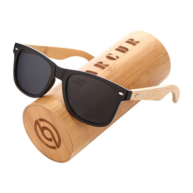 BARCUR Bamboo Wood Sunglasses