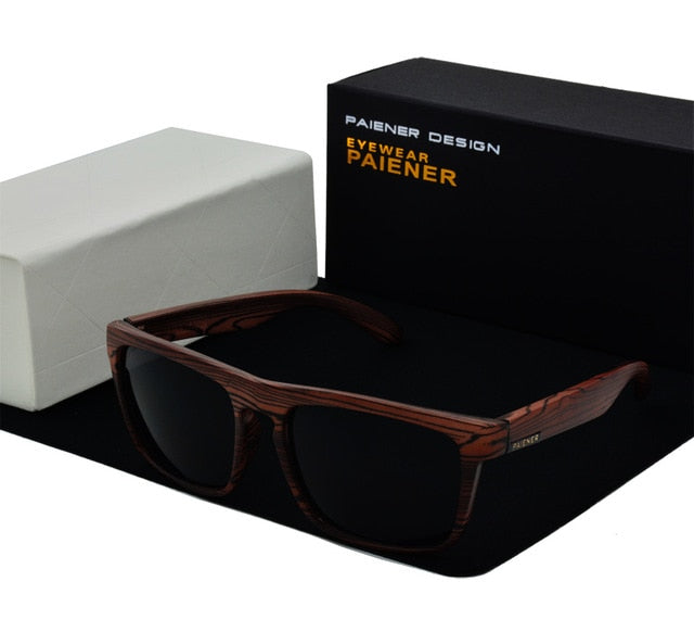 Paiener Bamboo Wood Sunglasses