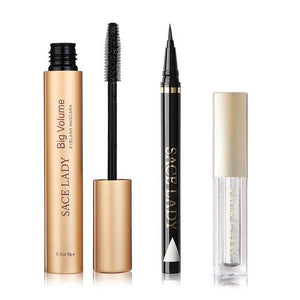 Sace Lady Makeup Set -  Eyeliner, Mascara, Eyeshadow