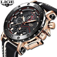 Load image into Gallery viewer, Lige Men's Military Watch