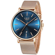 Load image into Gallery viewer, Lige Women's Ultra-thin Stainless Steel Watch