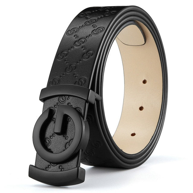 G-Buckle Leather Belt