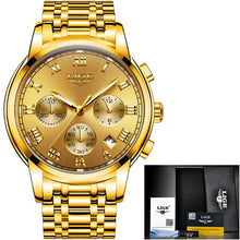 Load image into Gallery viewer, Lige Men's Sport Luxury Chronograph Watch