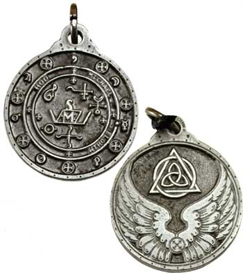Saint Michael talisman silver color
