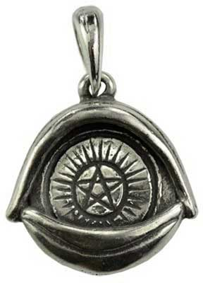 All Seeing Eye Pentagram amulet