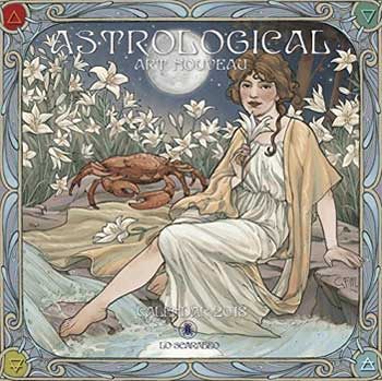 2018 Astrological Art Nouveau Calendar by Llewellyn