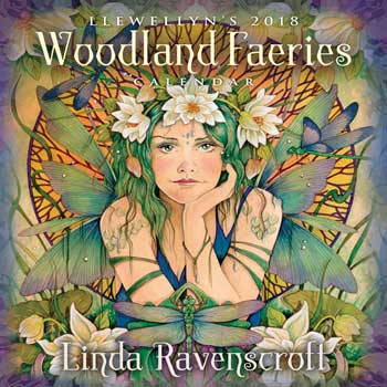2018 Woodland Fairies Wall Calendar by Llewellyn