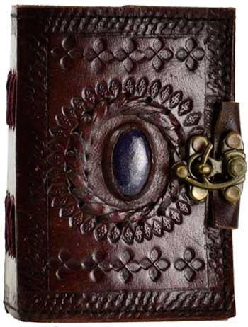 Stone Eye leather blank book w/ latch