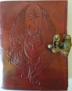 Moon Goddess leather blank book w/ latch